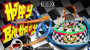 racing track cake happy birthday youtube