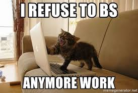 Angry Meme Cat - i refuse to bs anymore work cat angry cat meme generator