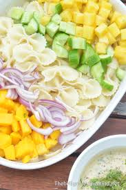 Creamy Pasta Salad Recipes by Tropical Pasta Salad With Creamy Vegan Dressing