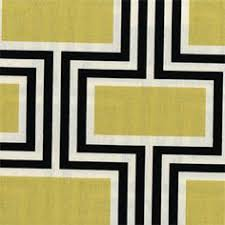 Black And White Drapery Fabric This Is A Yellow Black And White Geometric Embroidered Design