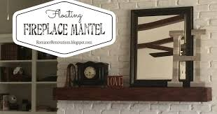 Floating Fireplace Mantels by Romance Renovations How To Build A Floating Wood Fireplace Mantel