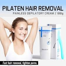 qoo10 pilaten painless depilatory hair removal cream 100g for