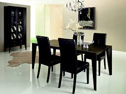 Black Dining Room Furniture Decorating Ideas Black Dining Room Table Lightandwiregallery