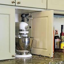kitchen appliance storage cabinet clever storage solutions closed doors kitchen