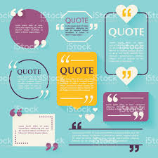 quote blank template design elements circle business card temp