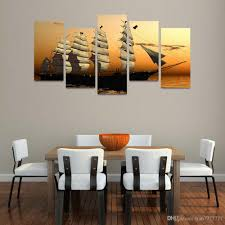 2017 sailing ship oil painting on canvas unframed wall modular
