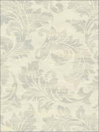 fy40008 bellagio silver and gold leaf scroll wallpaper