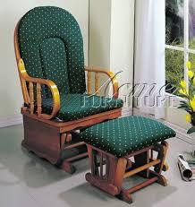 amazon com glider rocker chair with ottoman green cushion oak