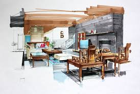 interior design hand drawings interior design