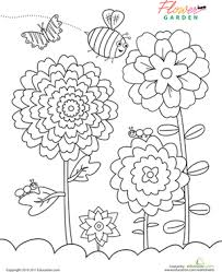 flower garden coloring worksheets group explore