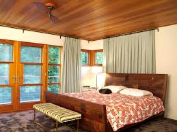 window treatments for bedrooms furniture ceiling fan with bed and wood headboard plus floor lamp