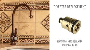 Kitchen Faucet Sprayer Diverter by Diverter Replacement On Hampton Kitchen And Prep Faucet Youtube