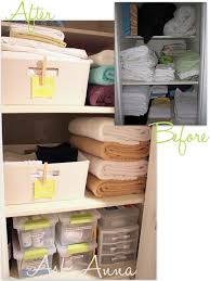 organizing the linen closet ask anna