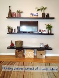 Altus Plus Floating Tv Stand Mounted Tv U0026 Floating Shelves Our Home U0027s Decor Pinterest