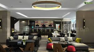 glamorous living 3d hotel bar interior design view yantram