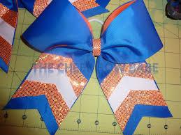Orange Colors Names Glitter Chevron Royal U0026 Orange Cheer Bow Bow W Name Team