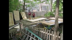 outdoor storage shed construction and foundation how to youtube