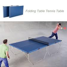 collapsible table tennis table lixada folding table tennis table ping pong table
