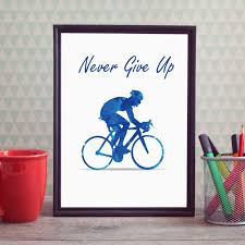 never give up quotes art paint wall art painting sport quotes home