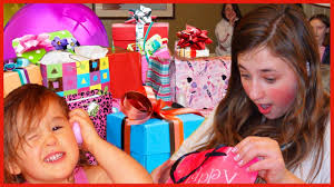 opening presents on birthday gift prank