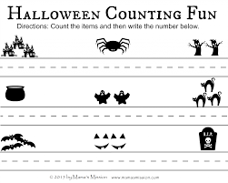 printable halloween sheets not so scary halloween printables count write and match