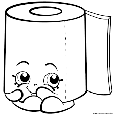 sweat leafy roll of toilet paper shopkins season 2 coloring pages