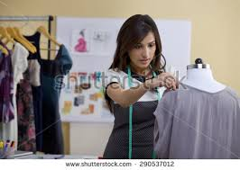 fashion designer fashion designer working on stock photo 290537012
