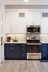 blue cabinets in kitchen navy cabinets popular cabinet color trend queen bee of honey dos