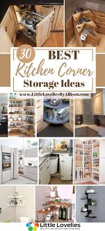 corner kitchen cabinet storage ideas 30 kitchen corner storage ideas kitchen design diy