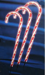 Outdoor Christmas Decorations Meijer by Amazon Com Sienna Pack Of 3 Lighted Candy Cane Pathway Markers