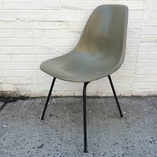 eames herman miller raw umber fiberglass chair for sale at 1stdibs