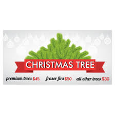 tree lot banners for farms stands tree lots
