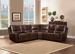 homelegance gerald sectional sofa brown bonded leather match