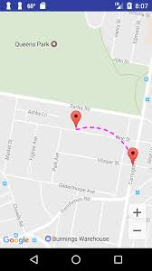 How To Correct Google Maps Can I Draw A Curved Dashed Line In Google Maps Android Stack