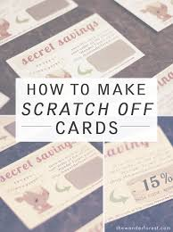 how to make your own scratch cards diy time cards diy