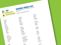 Powerful Action Verbs For A by Vibrant Verbs List For Kids Super Easy Storytelling