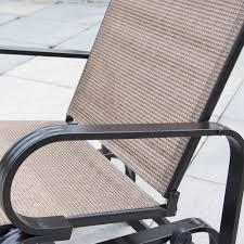 Textilene Patio Furniture by Glider Outdoor Patio Chair Textilene Mesh Fabric Aluminum Frame