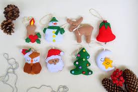 ornaments felt ornaments set of or
