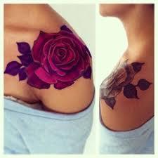 Large Flower Tattoos On - 25 best flower shoulder ideas on flower