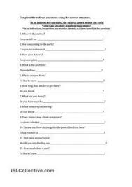 12 questions given in direct form students change them to