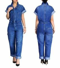 jean jumpsuit sleeve buttons denim jumpsuit blue jean