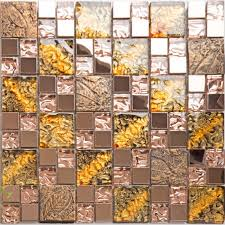 Steel Tile Backsplash by Glass And Metal Backsplash Tiles For Kitchen And Bathroom Bronze