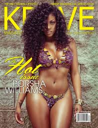 what is porsha stewart hair line or weaves porsha williams first woman to land cover of krave magazine