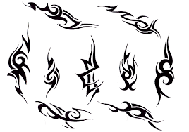 two tribal lily tattoo designs photos pictures and sketches