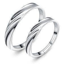 couples rings silver images Resizable couple promise rings sterling silver wedding bands him jpg