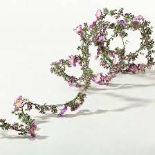 mini violet cherry blossom roping garland garlands floral