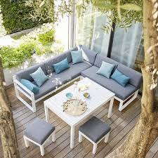 canapé de jardin castorama castorama salon de jardin materiaux naturels chagne