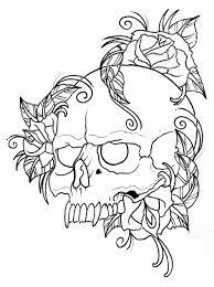 skull and rose drawing outline urldircom
