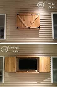 Home Made Cabinet - best 25 outdoor tv cabinets ideas on pinterest outdoor tv