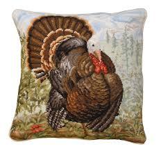 ncu 177 tom turkey 18 x18 needlepoint pillow